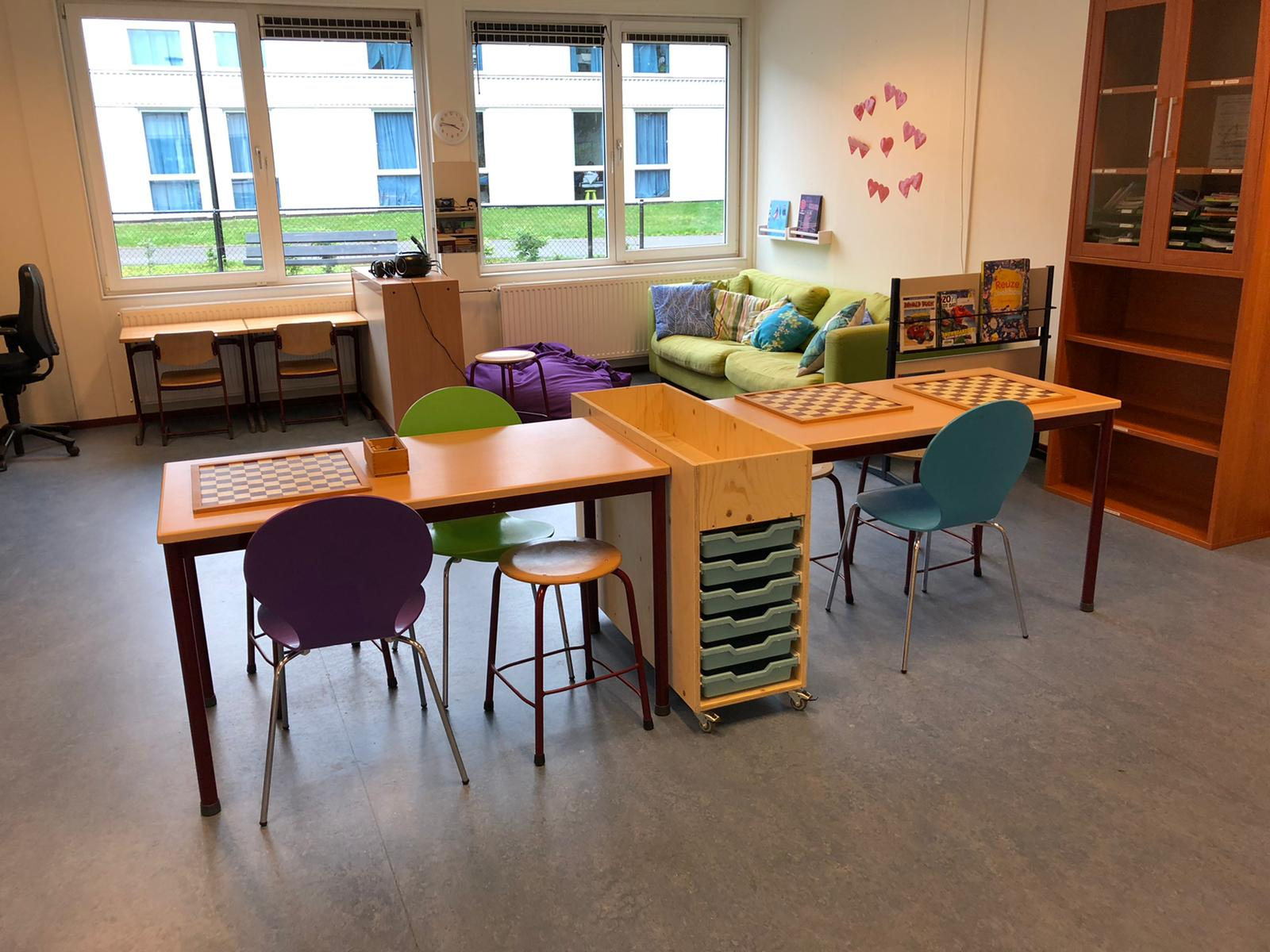 Interieur AZC school De Waaier